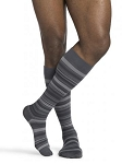 Microfiber Shades Socks Calf 15-20mmHg Men Closed Toe
