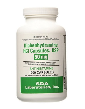 Diphenhydramine HCl Capsules 50mg #1000
