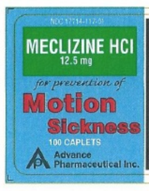 Meclizine Hcl Tablets 12.5 mg #100